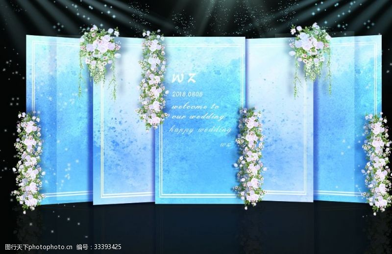 蒂芙尼蓝婚礼蓝色婚礼