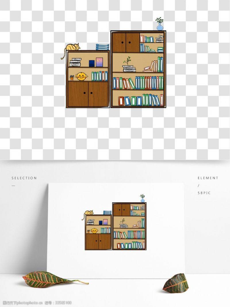 温馨木质家具木质书架