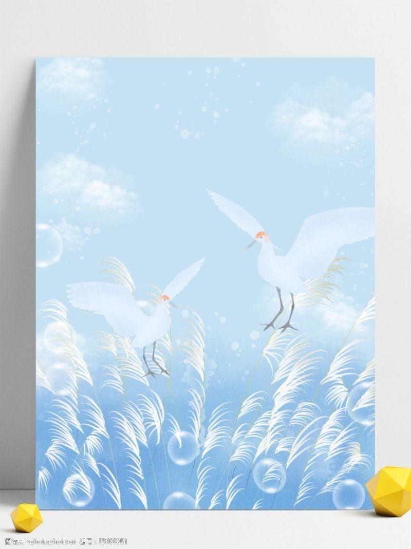背景展板图蓝天白露背景设计