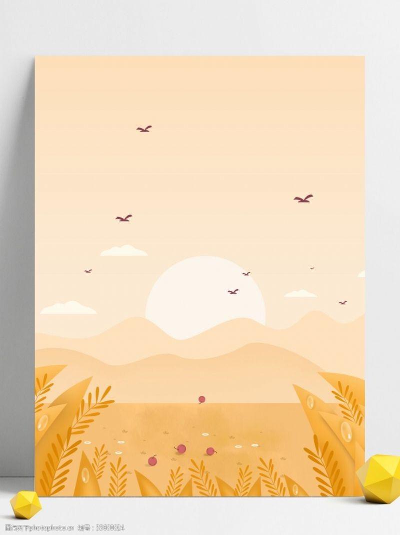 背景展板图秋季草丛背景设计